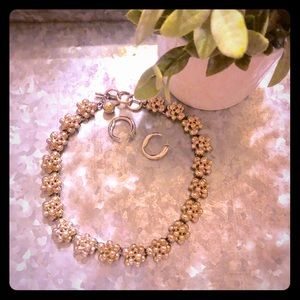 Anne Klein silver tone necklace